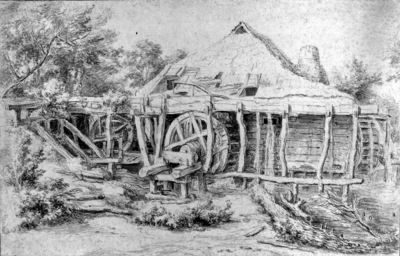 Ruisdael van Jacob Watermill Sun