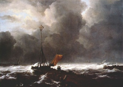 ruisdael storm at sea