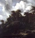 Ruisdael,J  Wooden hillside with a view of Castle Bentheim,