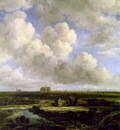 ruisdael view of haarlem with bleaching grounds, ca 1665,