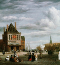 Ruisdael van Jacob View on the Dam and Damrak in Amsterdam Sun