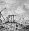 Ruysdael van Jacob View on Hogesluis Amstel Sun