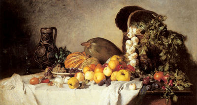 Rumpler Franz A Still Life With Fruit And Vegetables