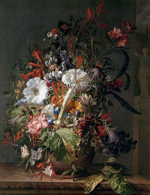 Ruysch Rachel Still Life with flowers Sun