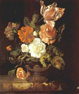 ruysch flowers in a vase