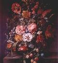 ruysch bouquet in glass vase