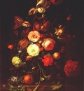 ruysch still life with flowers and oranges