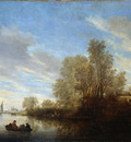 Ruysdael van Salomon River view Sun