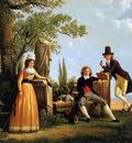 Sablet Jacques Family in Roman landscape Sun