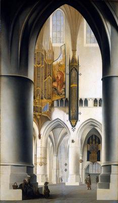 Saenredam Pieter Sint Bavo kerk In Haarlem Sun