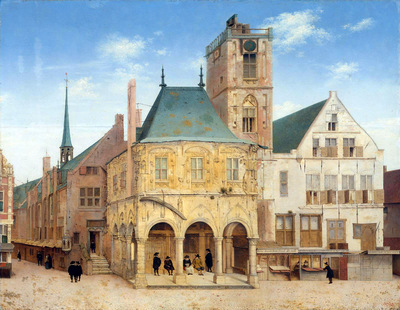Saenredam Pieter The old cityhall Sun