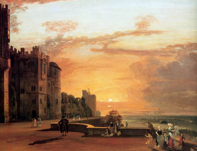 Sandby Paul Windor castle Sun