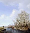Sande Backhuyzen van de H Winter landscape Sun