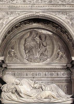 sansovino andrea tomb of girolamo basso della rovere 1505