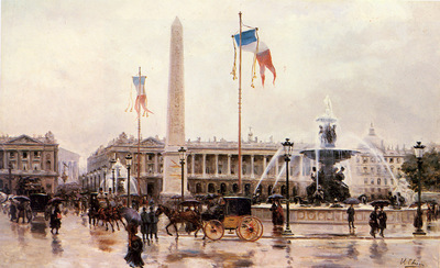 Checa Y Sanz Ulpiano A View Of The Place De La Concorde