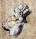 Sanzio Raffaello Head of a woman Sun