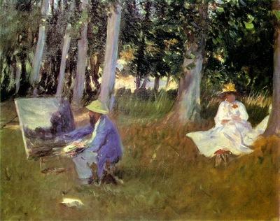 Claude Monet Painting