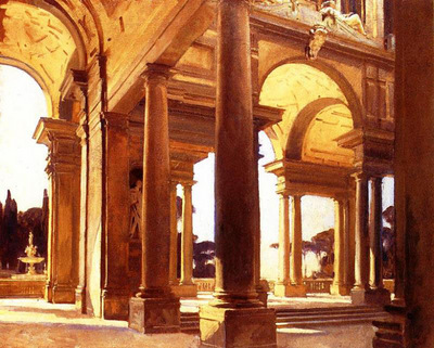 Sargent John Singer A Study of Architecture Florence
