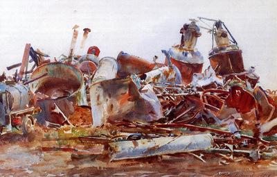 Sargent John Singer A Wrecked Sugar Refinery