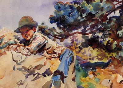 Sargent John Singer Boy on a Rock