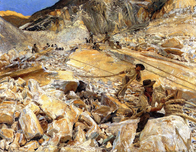 Sargent John Singer Bringing Dopwn Marble from the Quarries in Carrara