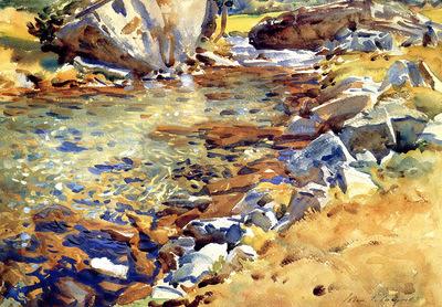 Sargent John Singer Brook among Rocks