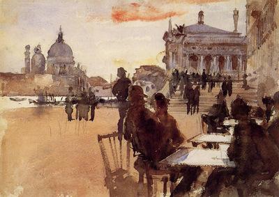 Sargent John Singer Cafe on the Riva degli Schiavoni