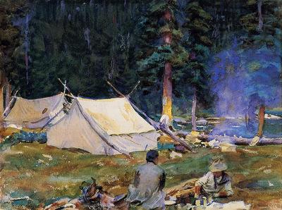 Sargent John Singer Camping at Lake O Hara