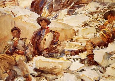 Sargent John Singer Carrara Workmen