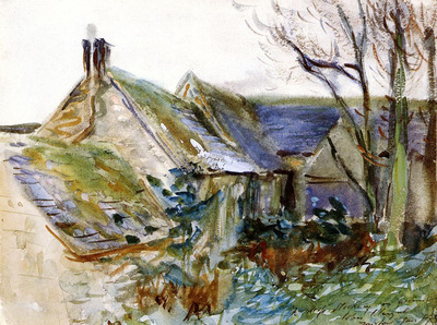 Sargent John Singer Cottage at Fairford Gloucestershire