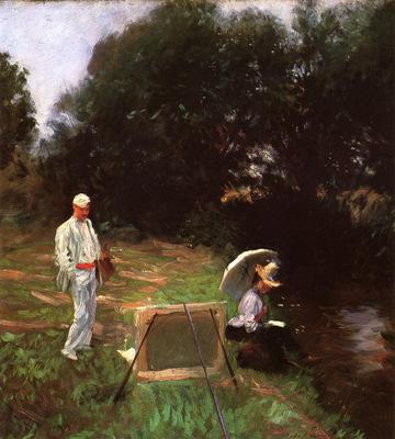 Sargent John Singer Dennis Miller Bunker Painting at Calcot