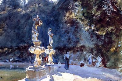 Sargent John Singer Florence Fountain Boboli Garden