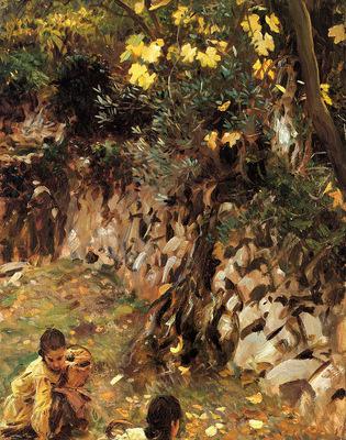 Sargent John Singer Girls Gathering Blossoms Valdemosa Majorca