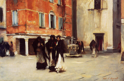 Sargent John Singer Leaving Church Campo San Canciano Venice