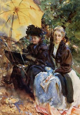 Sargent John Singer Miss Wedewood and Miss Sargent Sketching
