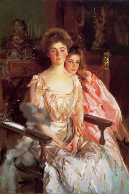 Sargent John Singer Mrs  Fiske Warren and Her Daughter Rachel