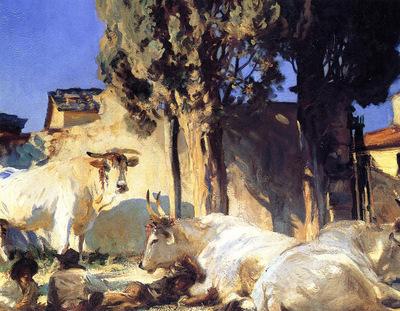 Sargent John Singer Oxen Resting2