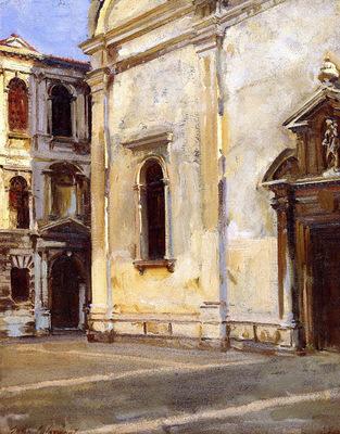 Sargent John Singer Santa Maria del Carmelo and Scuola Grande dei Carmini