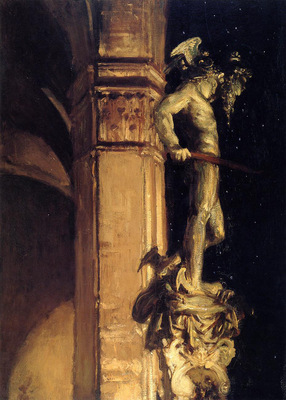 Sargent John Singer Statue of Perseus by Night