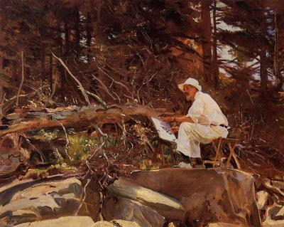 Sargent John Singer The Artist Sketching