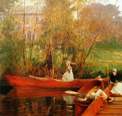 Sargent John Singer The boating party Sun