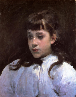 Sargent John Singer Young Girl Wearing a White Muslin Blouse