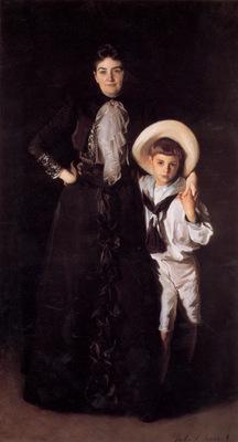 Sargent Mrs Edward L Davis and Her Son Livingston