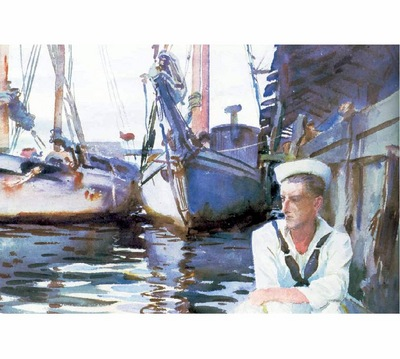 fl art008 basin with sailor john singer sargent