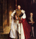 Sargent John Singer Charles Stewart Sixth Marquess of Londonderry Carrying the Great Sword of State at the Coronat