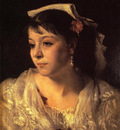 Sargent John Singer Head of an Italian Woman