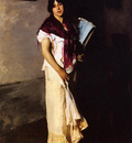 Sargent John Singer Italian Girl with Fan