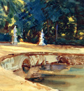 Sargent John Singer Pool in the Garden of La Granja