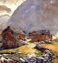 Sargent John Singer Simplon Pass Chalets