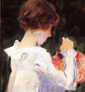 Sargent John Singer Study of Polly Barnard for Carnation Lily Lily Rose